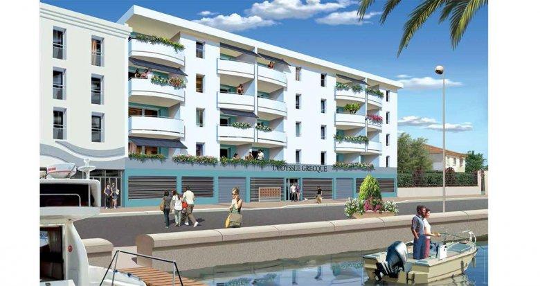 Achat / Vente appartement neuf Palavas-les-Flots au bord de l'eau (34250) - Réf. 957